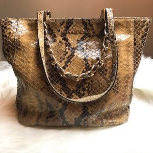 MICHAEL KORS snakeskin embossed purse